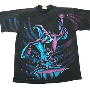 VTG Single Stitch Large Looney Tunes Taz T-Shirt
